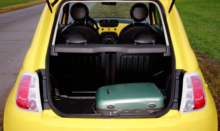 Fiat 500 - bagażnik