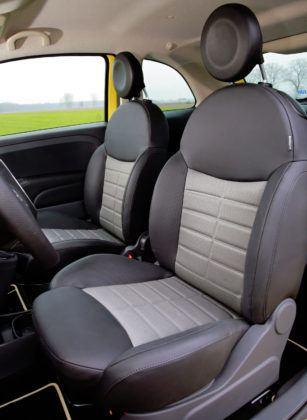 Fiat 500 - fotel kierowcy