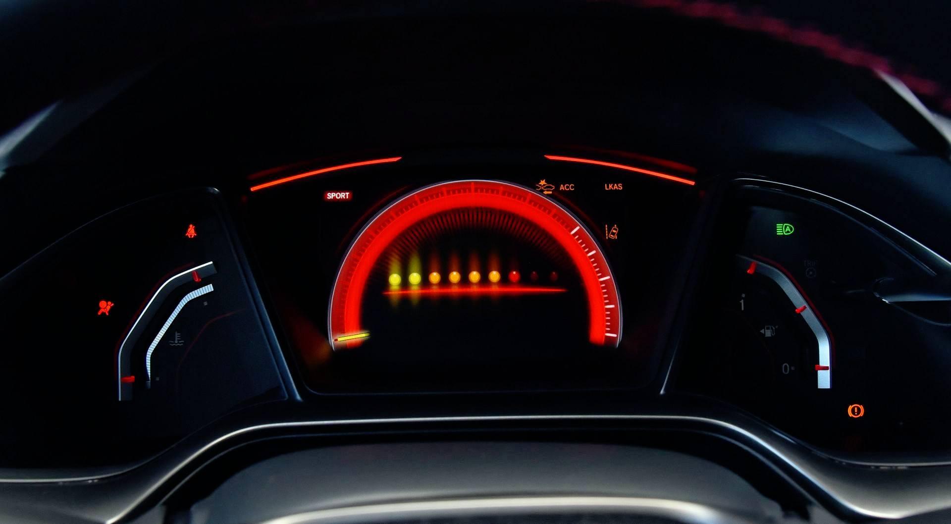 Honda Civic Type R - obrotomierz