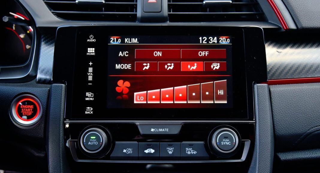 Honda Civic Type R - wyświetlacz