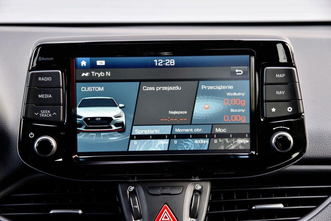 Hyundai i30 N - wyświetlacz