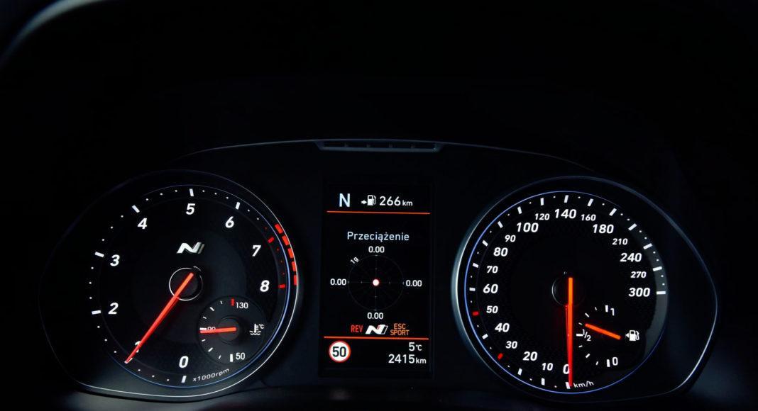 Hyundai i30 N - zegary