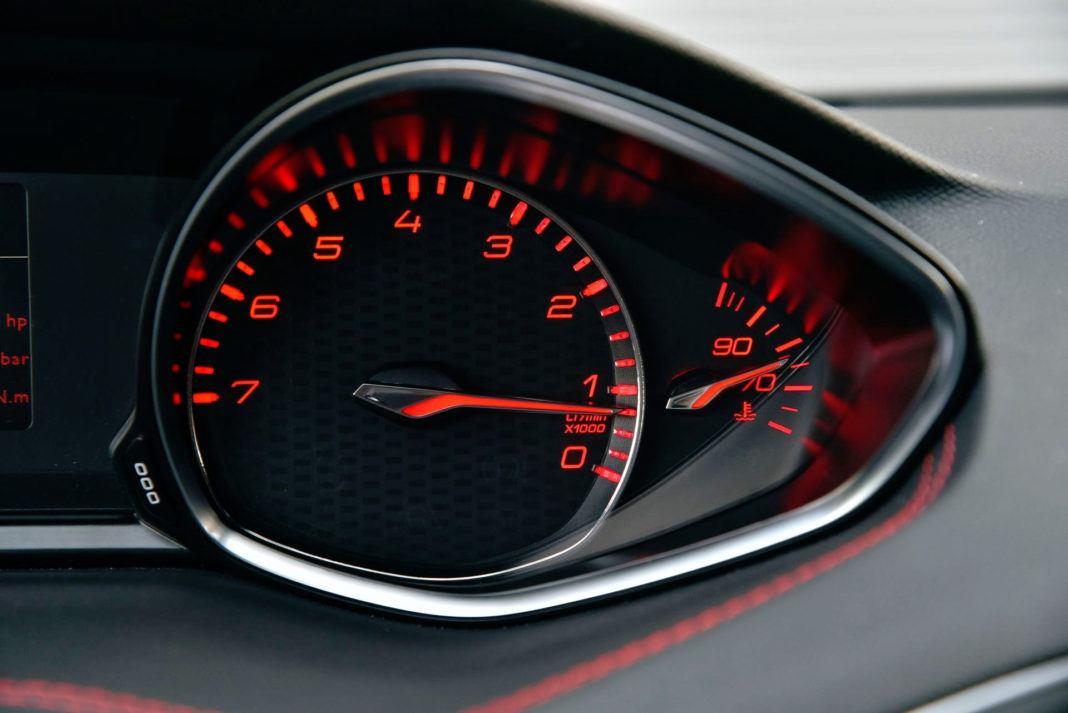 Peugeot 308 GTi - obrotomierz