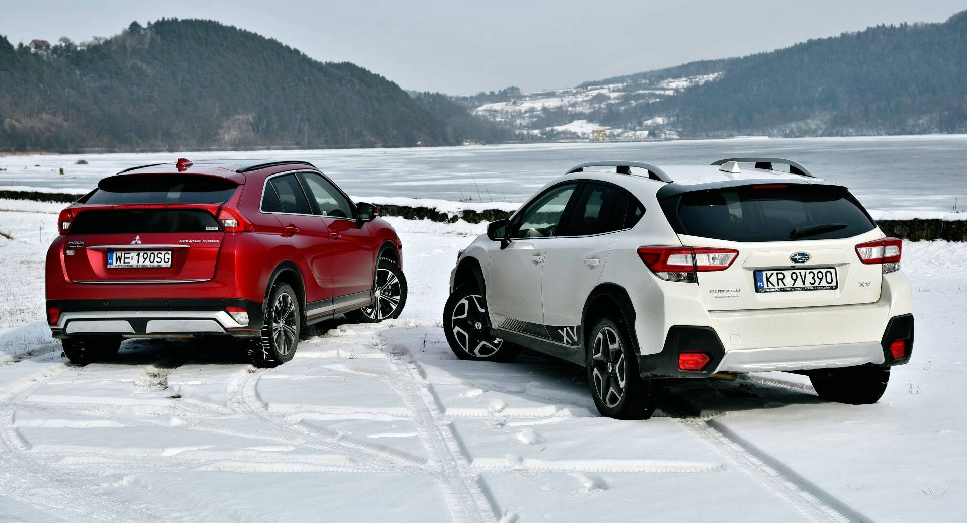 Porównanie Mitsubishi Eclipse Cross & Subaru XV - otwierające