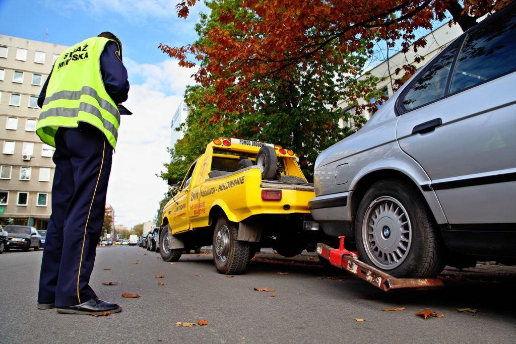 Odholowanie pojazdu - mandat