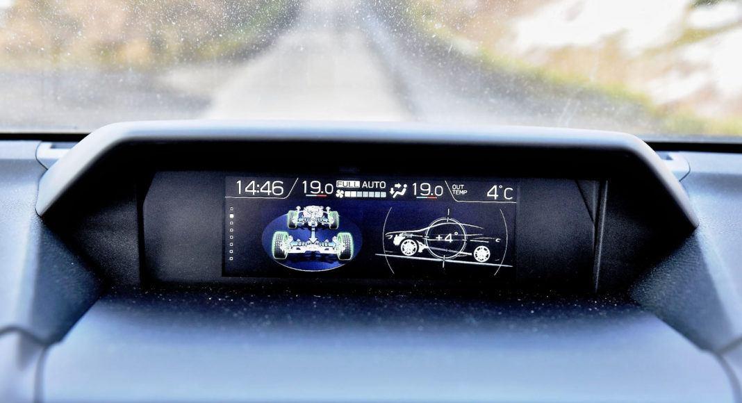 Subaru XV - wyświetlacz