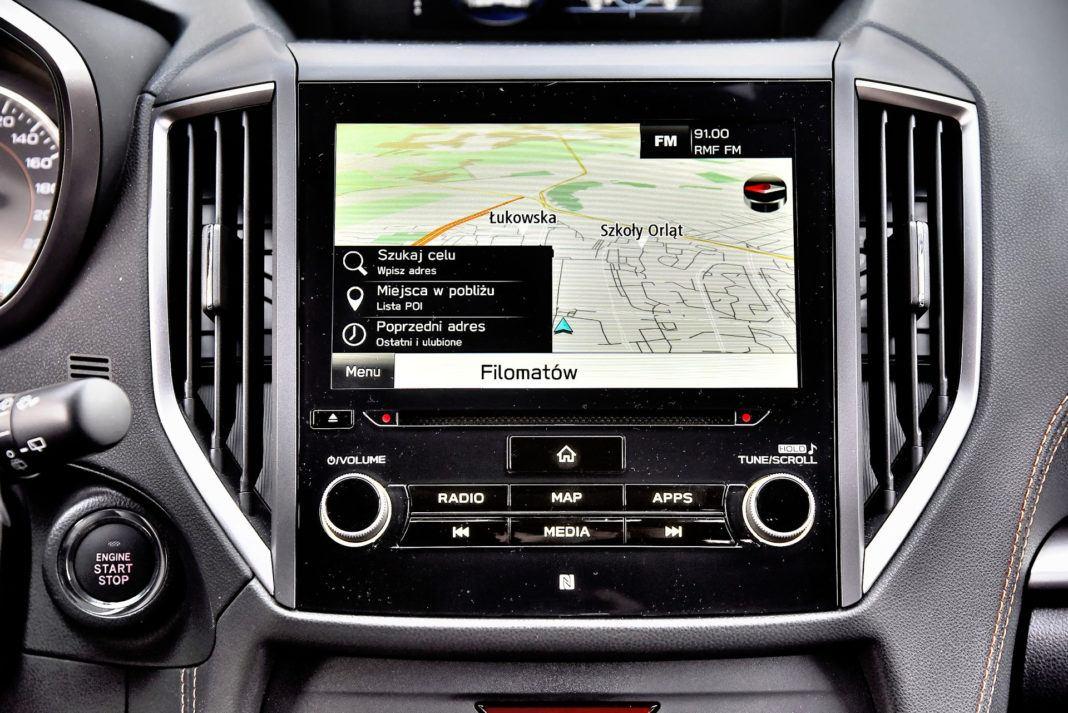 Subaru XV - wyświetlacz centralny