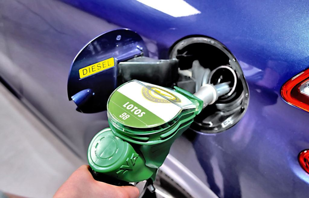 Zatankowanie złego paliwa