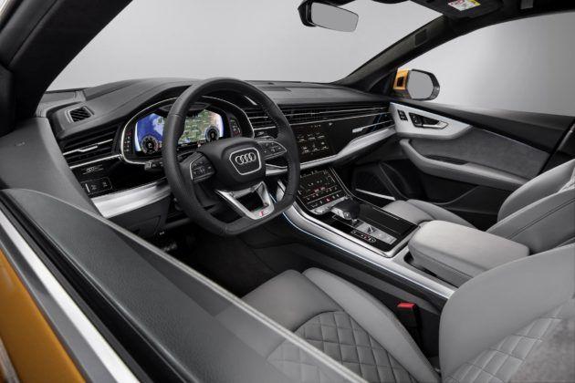 Audi Q8 (2019) – deska rozdzielcza