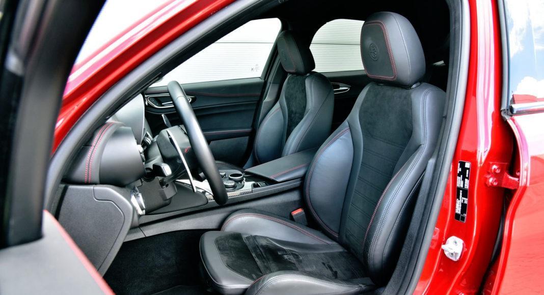 Alfa Romeo Giulia Quadrifoglio - fotel kierowcy