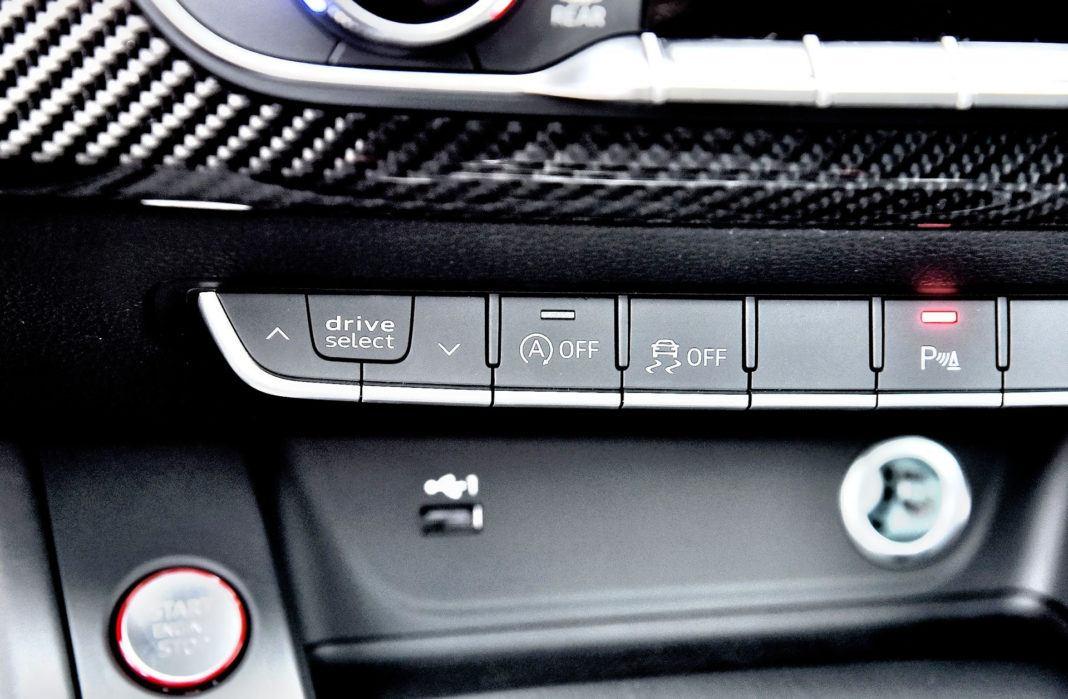 Audi RS 5 - przyciski