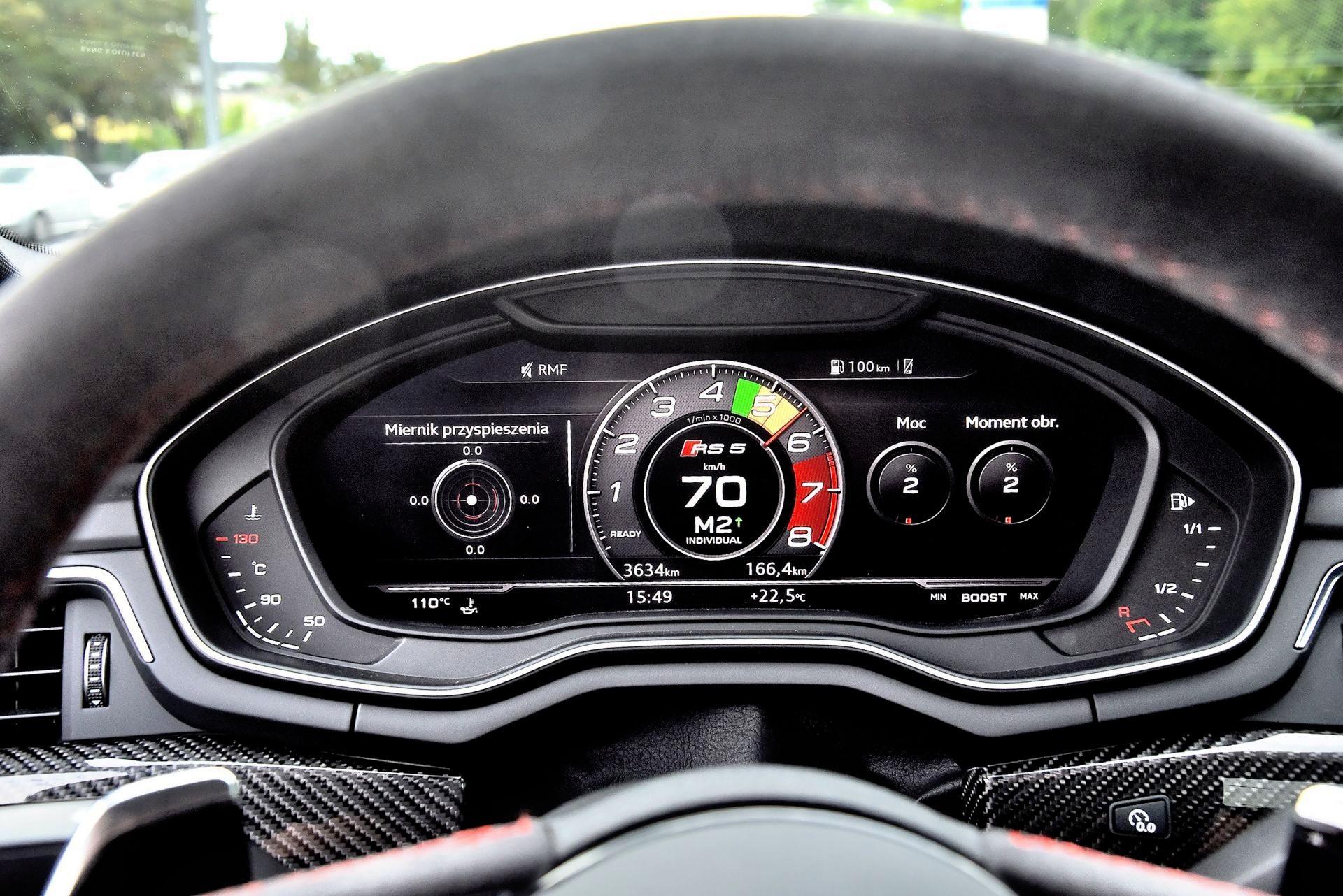 Audi RS 5 - wskaźniki