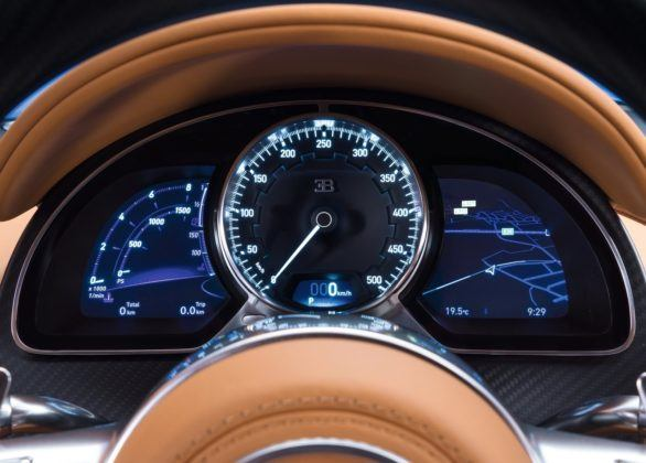 Bugatti Chiron - wskaźniki