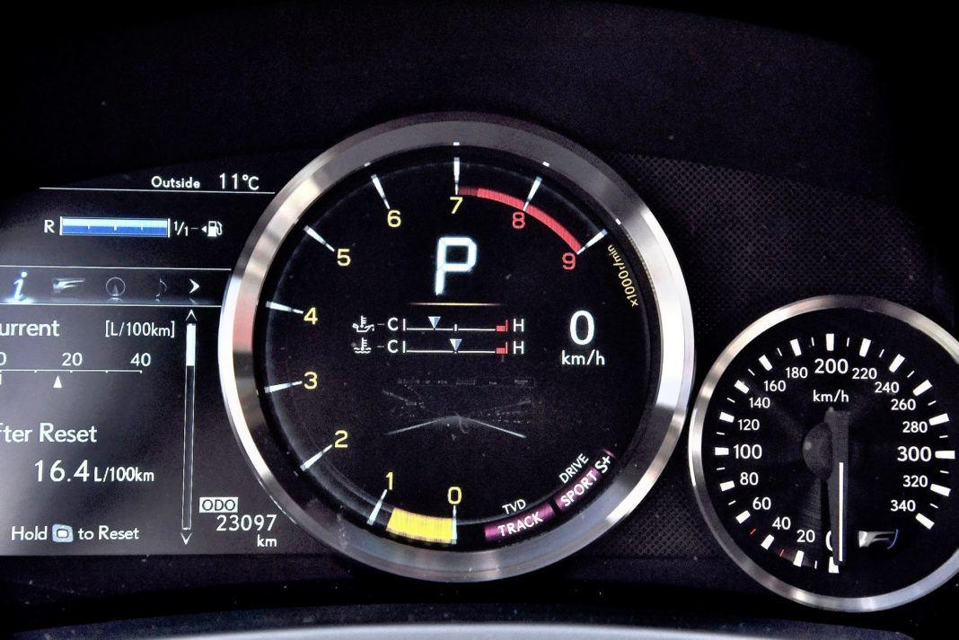 Lexus RC F - wskaźniki