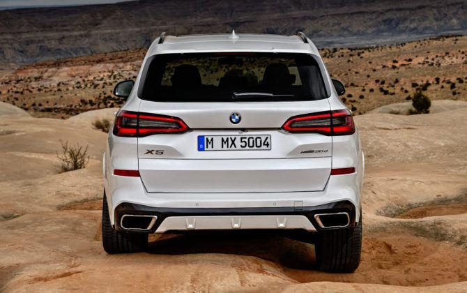 Nowe BMW X5 - tył