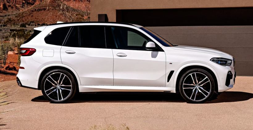 Nowe BMW X5 - bok