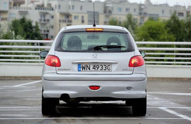 Używany Peugeot 206 - tył