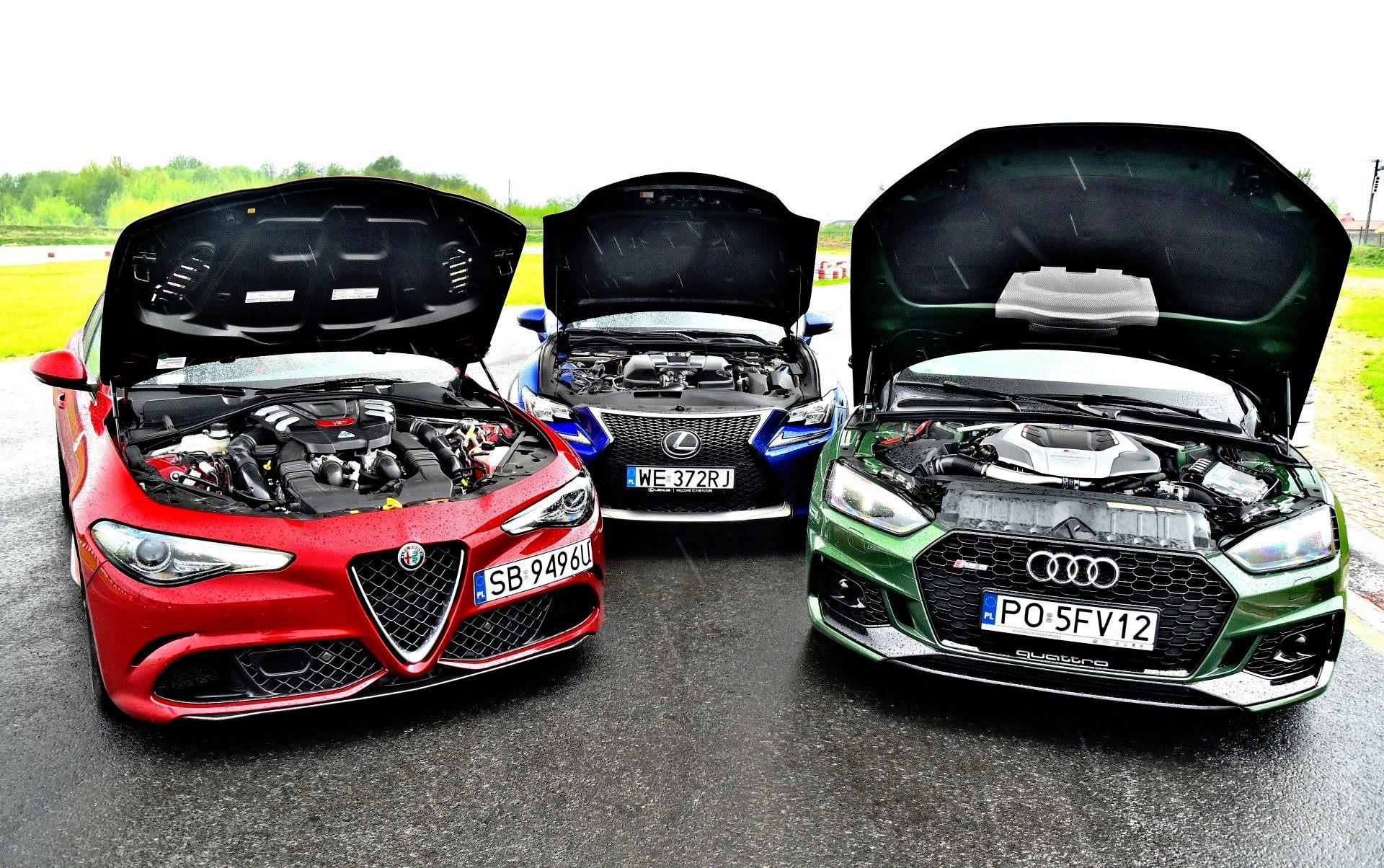 "Alfa Romeo Giulia Quadrifoglio Audi RS 5 Lexus RC F POR""WNANIE"