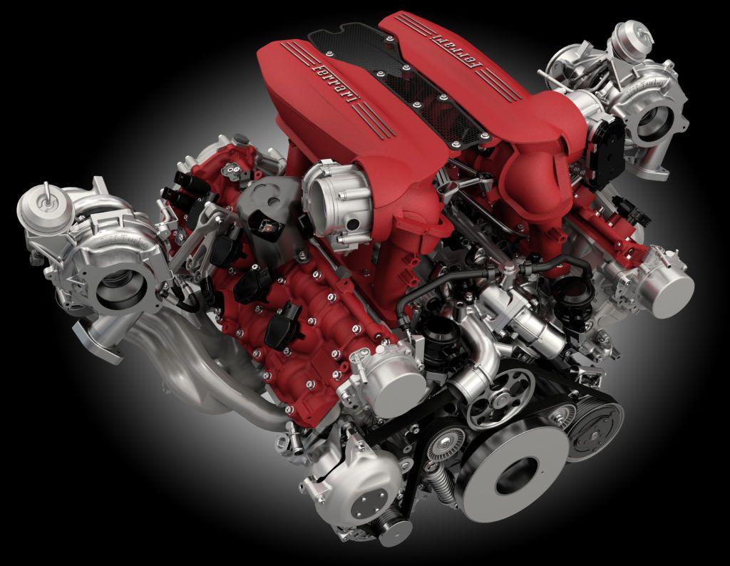Podwójnie doładowany silnik Ferrari