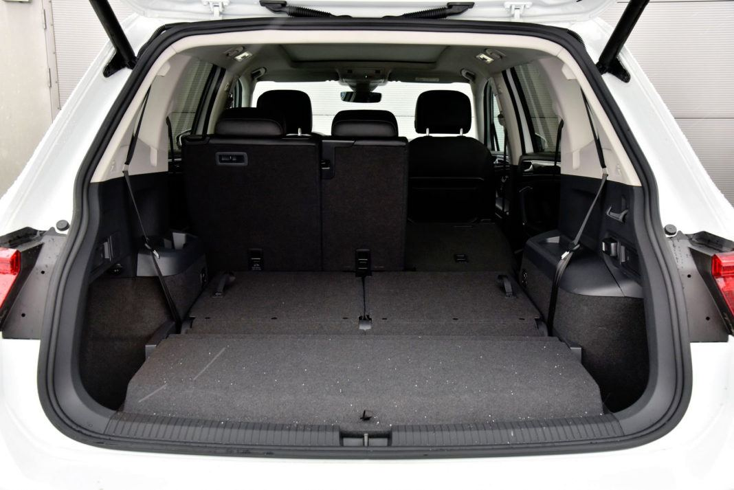 Volkswagen Tiguan - powiększony bagażnik