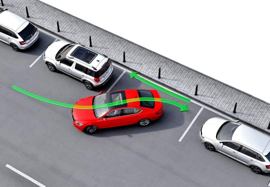 Skoda - wspomaganie parkowania