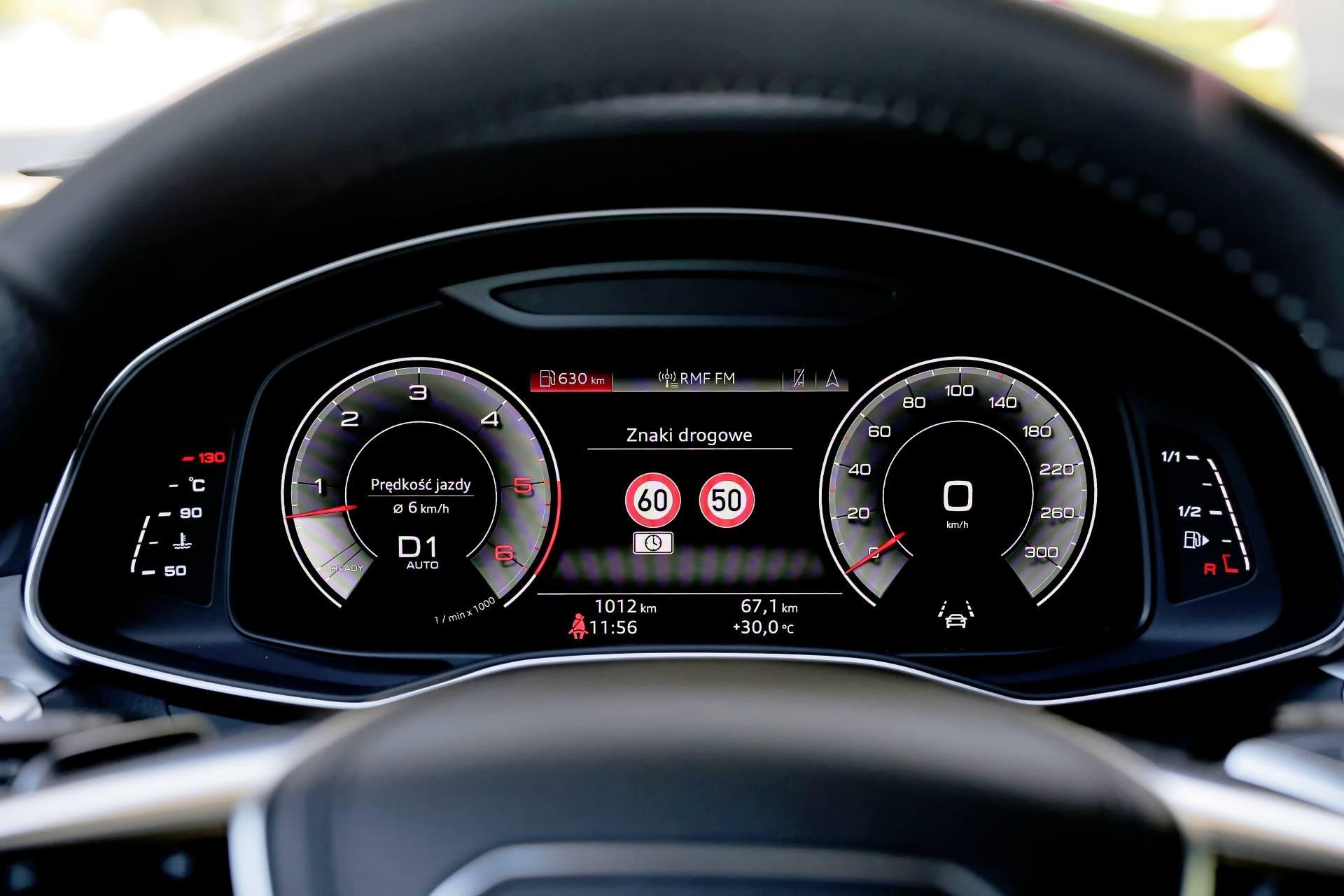 Audi A6 - zegary