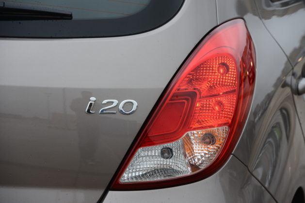 Hyundai i20 - tylna lampa