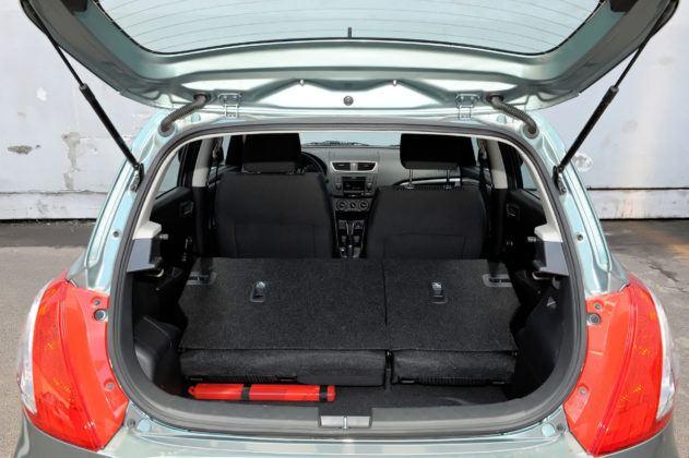 Suzuki Swift V - powiększony bagażnik