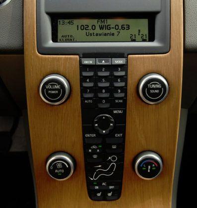 Używane Volvo V50 - konsola środkowa