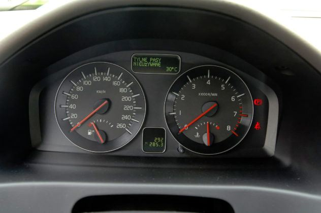 Volvo V50 - wskaźniki