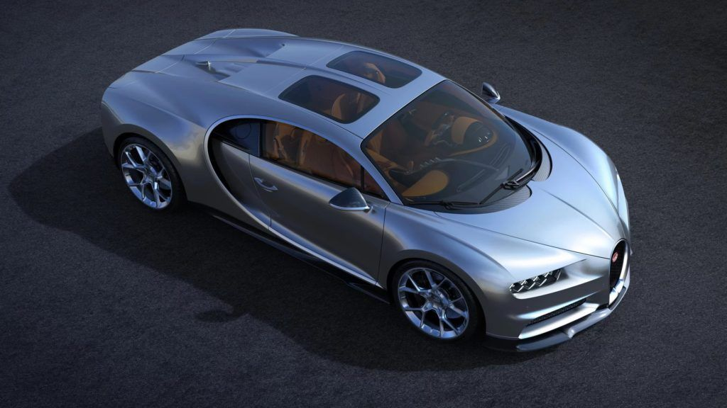 Bugatti Chrion z opcjonalnym dachem Sky View