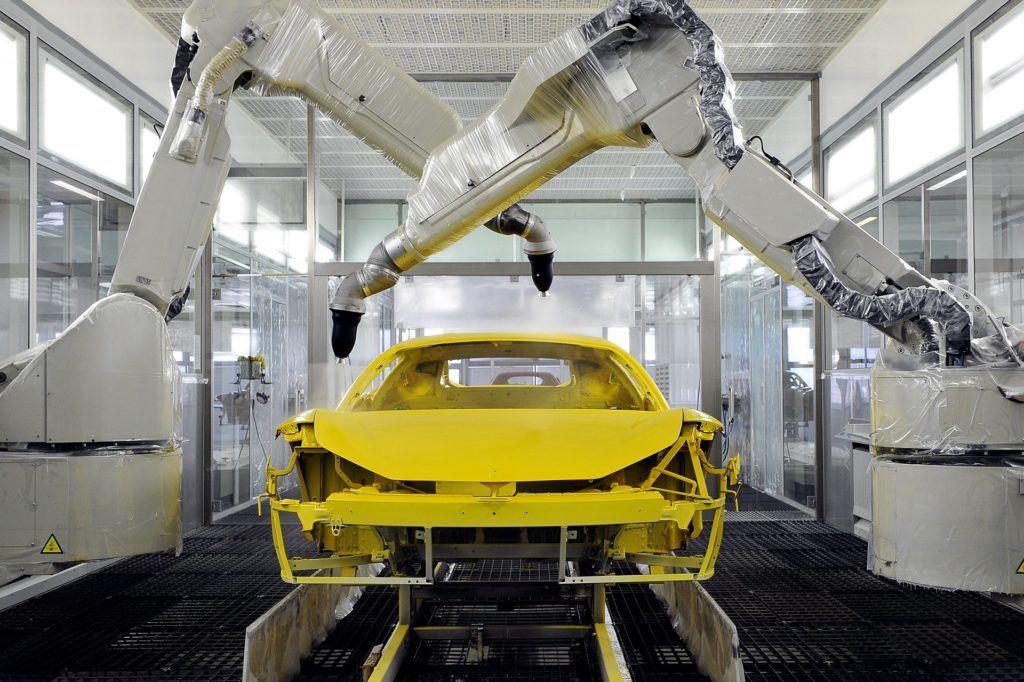 Ferrari: nowy proces lakierowania