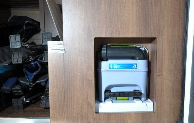 Kamper - kaseta toalety