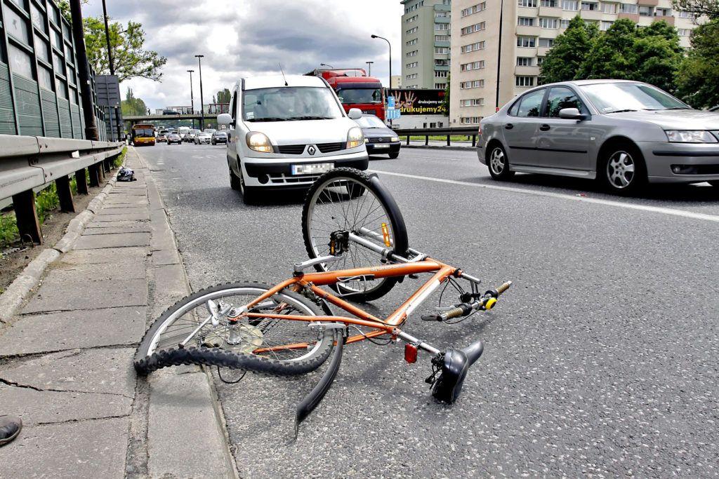 Kolizja z rowerzystą