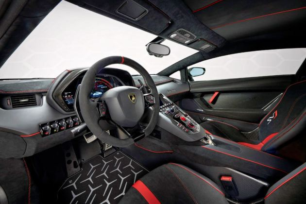 Lamborghini Aventador SVJ - deska rozdzielcza