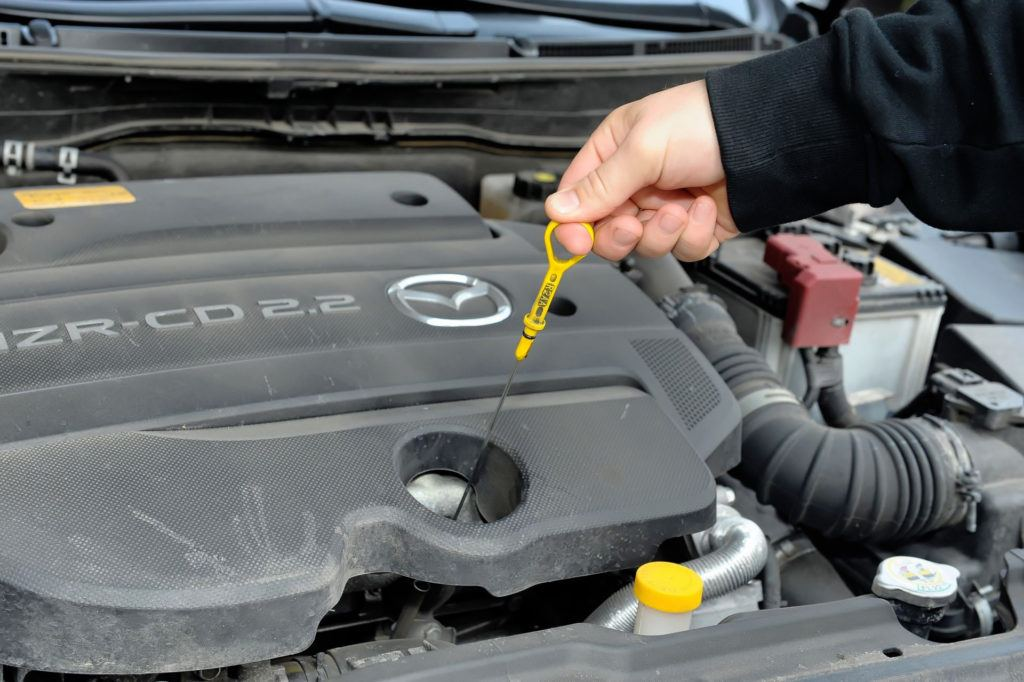 Mazda 6 II (GH) - poziom oleju