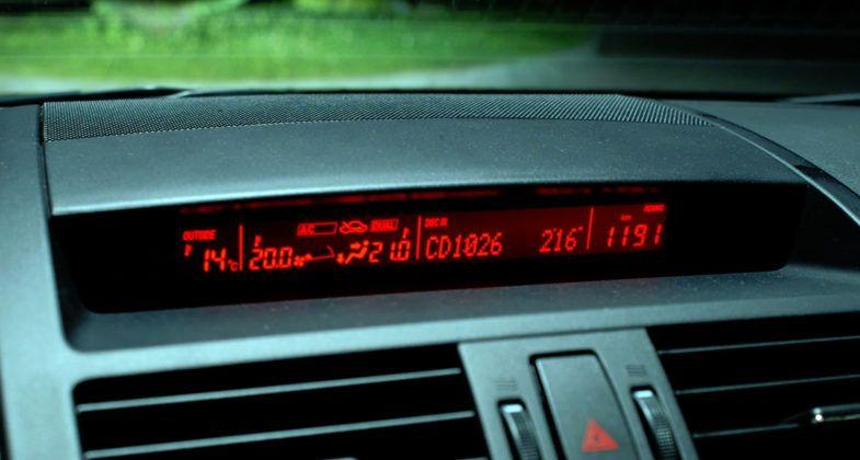 Mazda 6 II (GH) - wyświetlacz