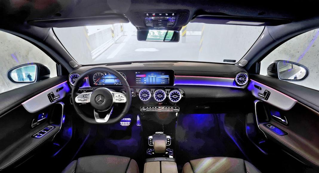 Mercedes A 200 - oświetlenie
