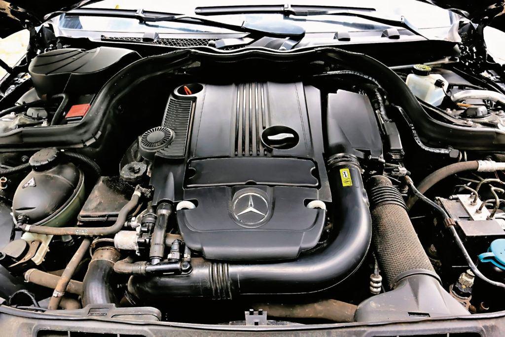 Mercedes Klasy C W204 - silnik z kompresorem