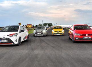Miejskie GTI – Mini JCW, Renault Clio RS, Toyota Yaris GRMN i Volkswagen Polo GTI