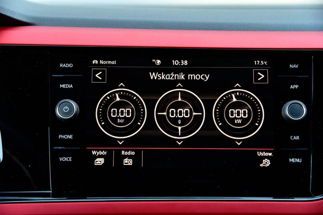 Volkswagen Polo GTI - wyświetlacz