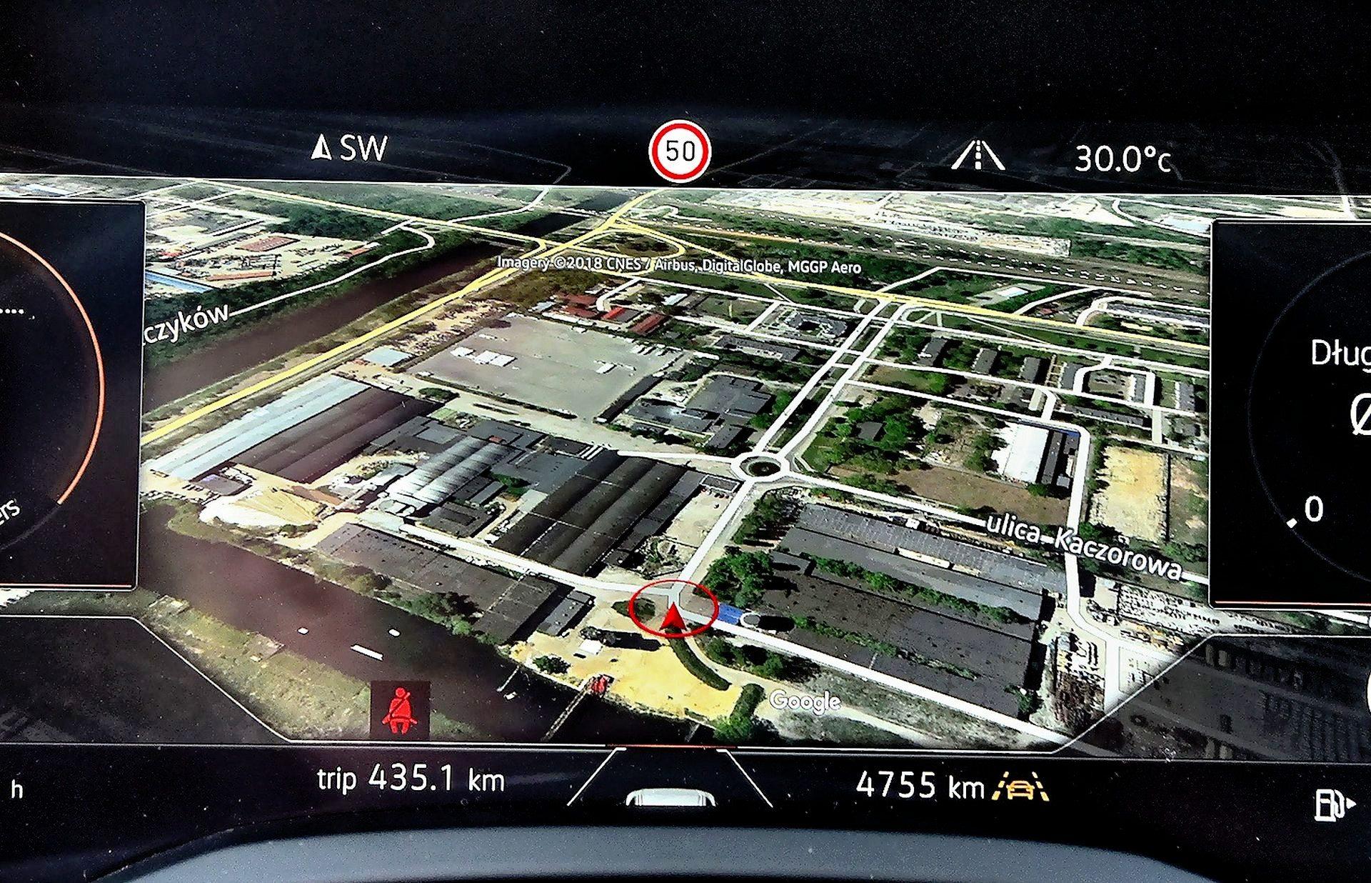 Volkswagen Touareg - mapa