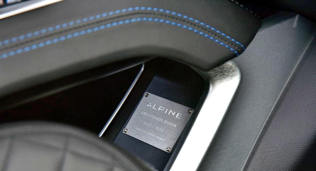 Alpine A110 - tabliczka