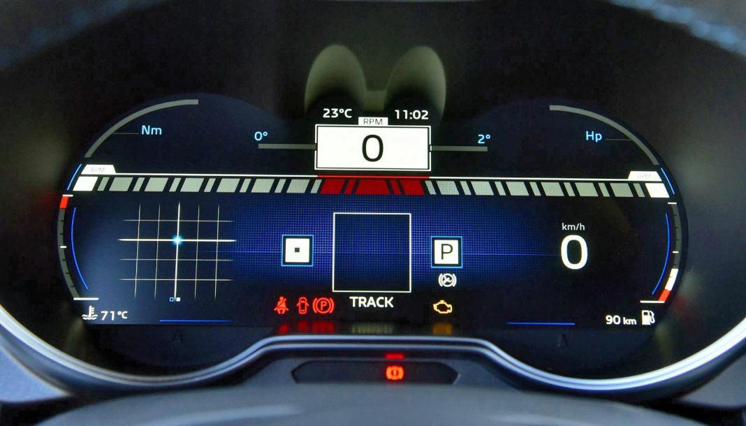 Alpine A110 - zegary