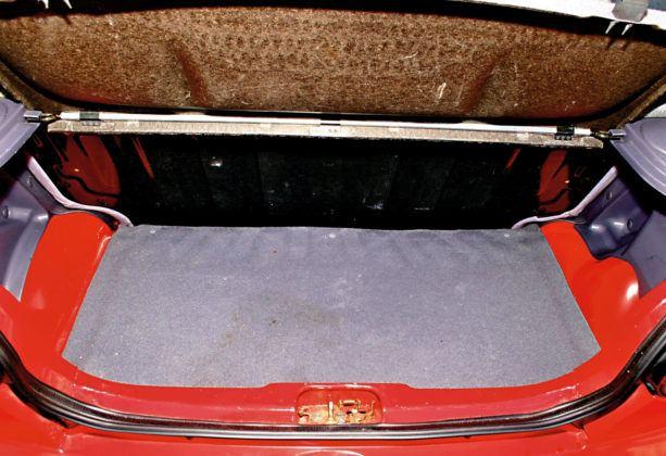 Daewoo Matiz - bagażnik