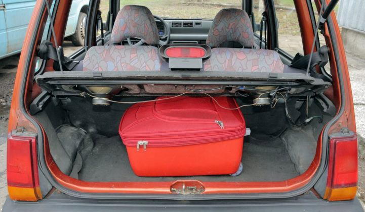 Daewoo Tico - bagażnik