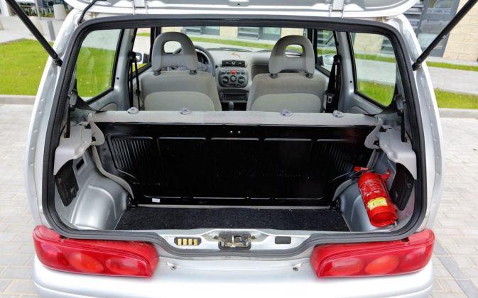 Fiat Seicento - bagażnik