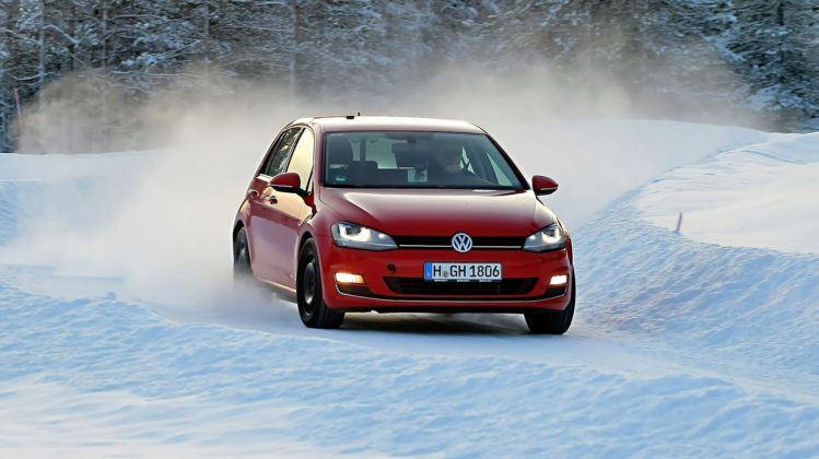 Jazda na czas po śniegu