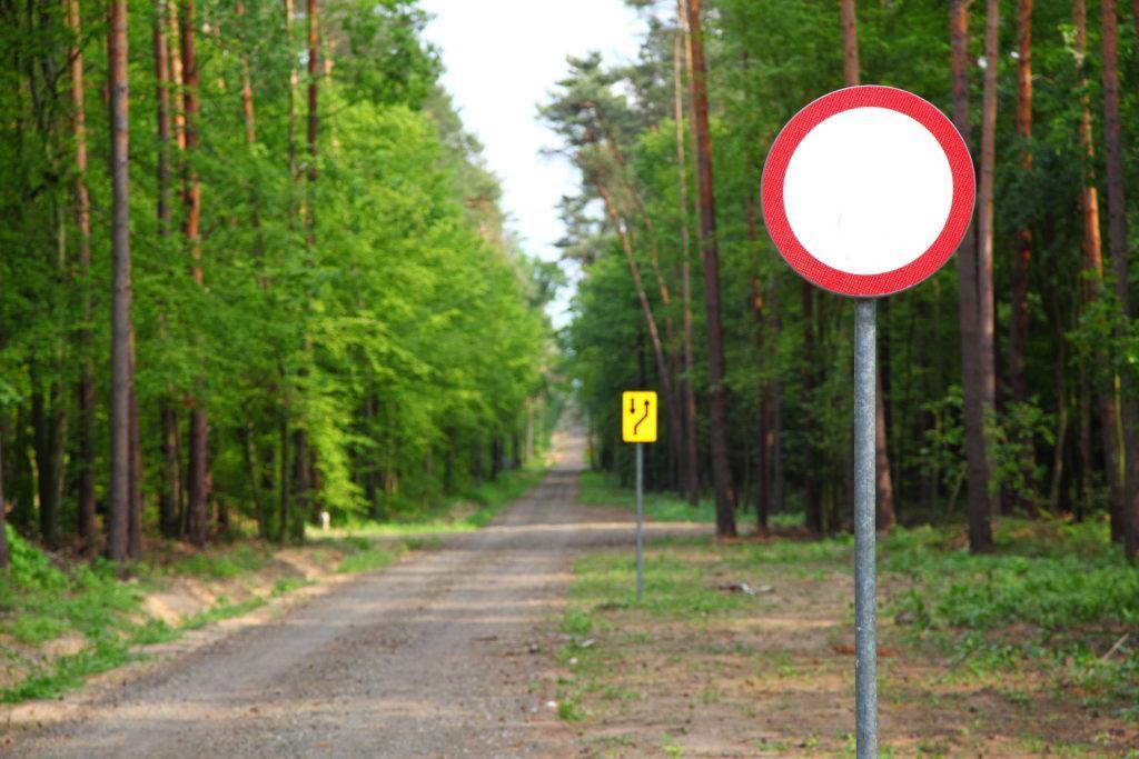 Mandat za wjazd do lasu
