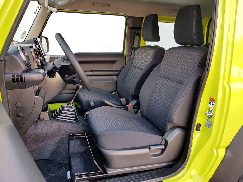 Nowe Suzuki Jimny - fotel kierowcy